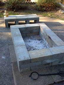 Block Firepit 25 Best Ideas About Square Pit On Grillage Foundation Brick Pits And