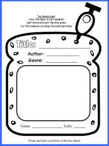 Sandwich Book Report Ideas Sandwich Book Report Project Templates Printable