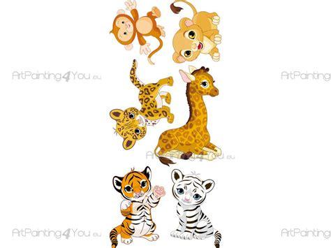 imagenes animales safari vinilos infantiles safari animales selva kit 1504es