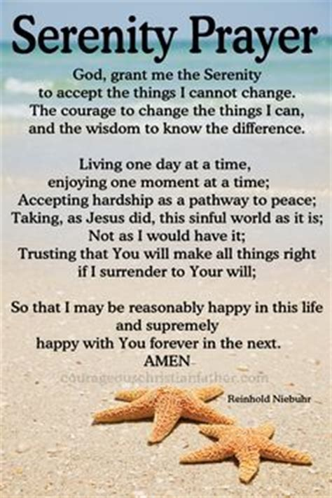 serenity prayer long version