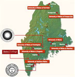 map of colleges in education sanford economic development maine economic