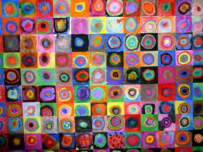 color study squares with concentric circles the smartteacher resource concentric circles with kandinsky