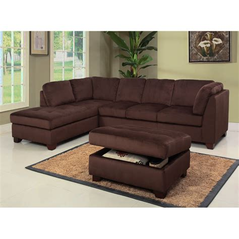 microsuede storage ottoman delano microsuede sectional sofa chaise with storage
