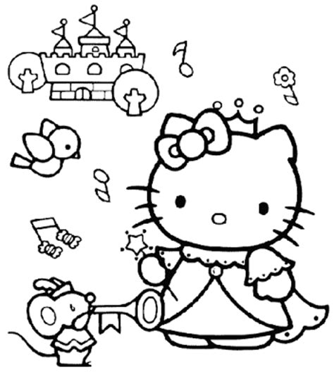 coloring pages hello kitty princess hello kitty coloring pages