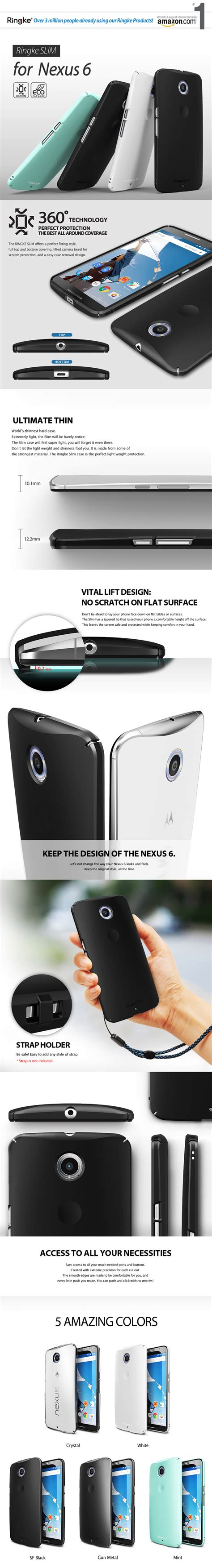 Limited Rearth Ringke Slim Motorola Nexus 6 Black Cle Limited rearth usa ringke slim motorola nexus 6 navifun store