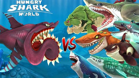 hungry shark world buzz helicoprion vs atomic megalodon