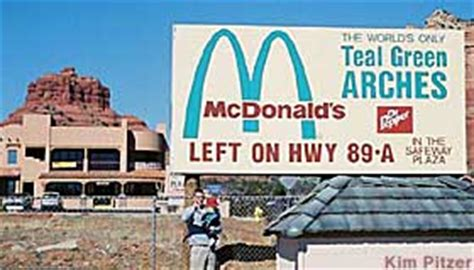 Sedona, AZ   Only McDonald's with Green Arches