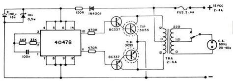 converter ac ke dc motor 12 vdc to 220 vac converter circuits schematics circuits
