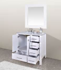 calesvo 36 inch contemporary white cabinet only
