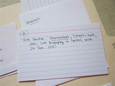 Note Card Template For Annotated Bibliography by January 2013 Theroommom