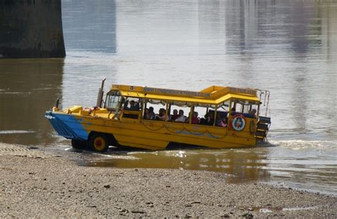 river thames duck boat london tourists rescued from boat fire on thames video