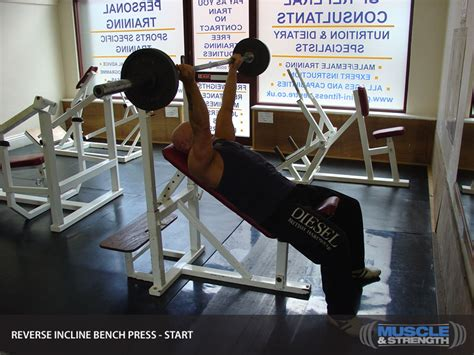 reverse incline bench press reverse grip incline bench press video exercise guide tips