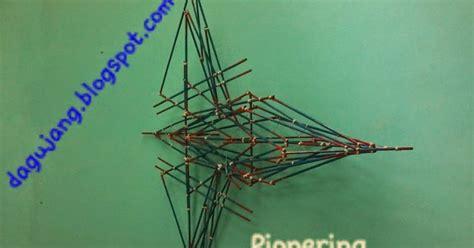 desain gapura pramuka pionering mini bentuk pesawat dagujang