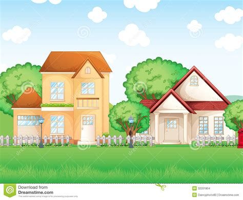 two houses two big houses stock vector image of cement neighborhood 32201804