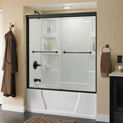 Glass Bathtub Shower Doors by Vigo Rialto 34 In X 58 In Bathtub Door With 3125 In