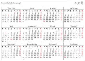 Kalendár Na Rok 2018 Kalendarz 2016 Do Pobrania