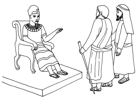 Pharaoh And Moses Coloring Pages by Free Aaron And The Golden Calf Coloring Pages
