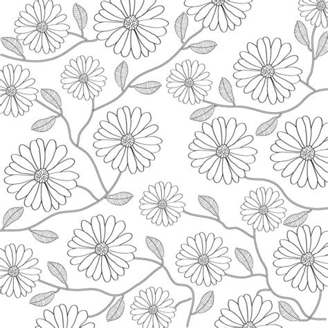 floral pattern background black and white free floral background in black and white vector free download