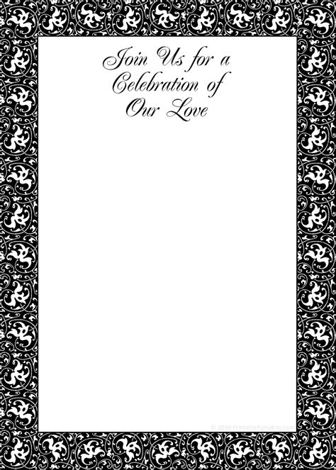 elegant black and white wedding invitation templates