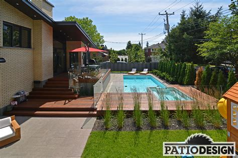 Patio L by Conception Fabrication Et Installation De Patio Autour D