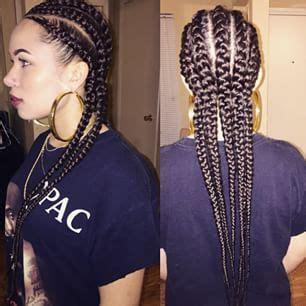 braids hairstyles straight back mua dasena1876 movie night qu instagram photo back