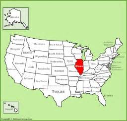 us map illinois illinois state maps usa maps of illinois il
