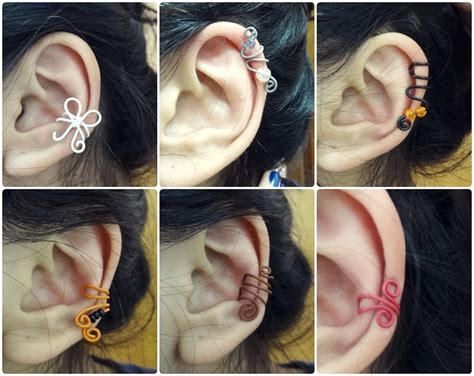 diy ear cuff ear cuff diy bow diy ear cuffs
