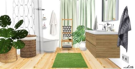 ikea bathroom  viikiitarar sims  build mode furnituredeco objects