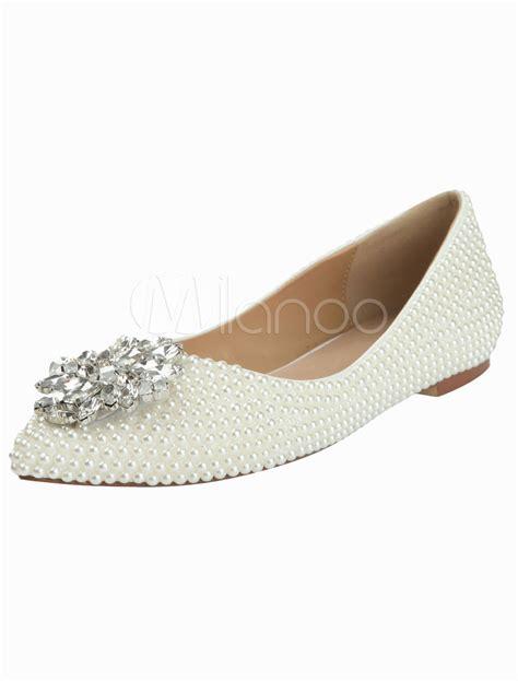 Flache Weiße Schuhe Hochzeit by Braut Falche Schuhe Brautjungfern Flache Schuhe Flache