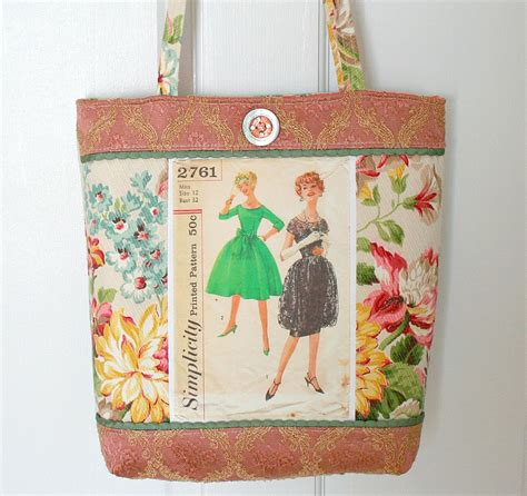 pattern etsy review vintage sewing pattern elegant tote bag purse free ship