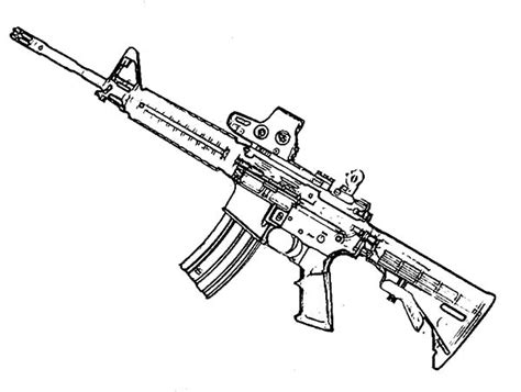 Gun Coloring Pages   Bestofcoloring.com