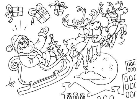 Primary Christmas Crafts - coloring page santa claus in sled img 23379