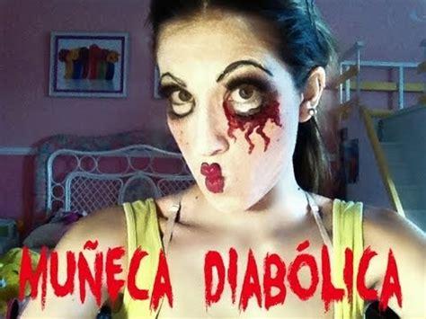 imagenes halloween para la cara maquillaje para halloween de mu 241 eca diab 243 lica 01 youtube