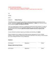 verbal warning template letter best photos of sle verbal warning template employee