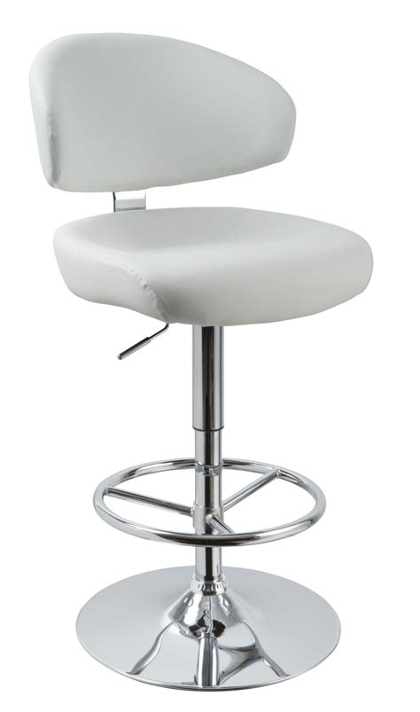 Modern Leather Bar Stools by T1034 Eco Leather White Bar Stool