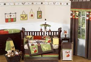 woodland forest animals baby bedding 9pc crib set by
