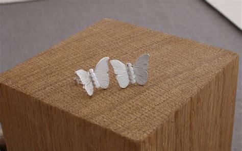 Handmade By Caroline - handmade by caroline handmade silver butterfly stud