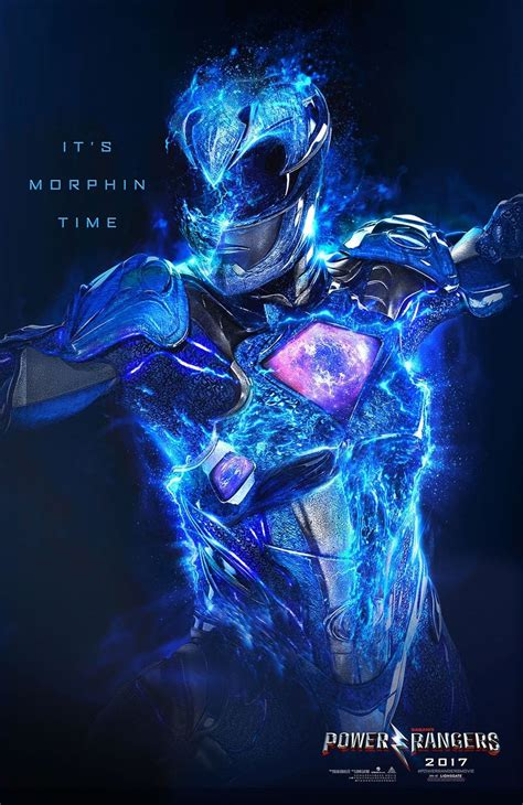 Poster Blue Ranger Hiasan Dinding power rangers it s morphin time posters show our heroes