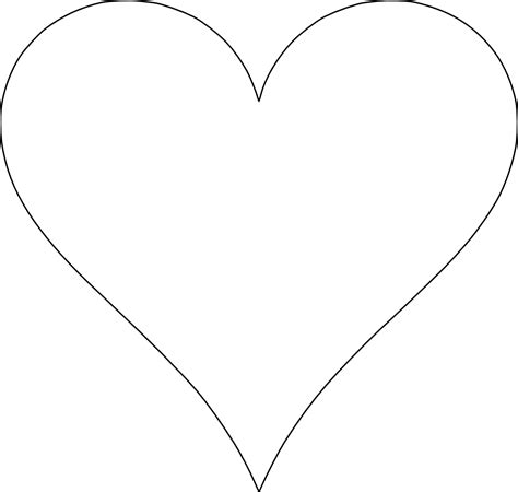printable heart shape clipart best