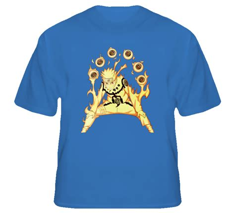 T Shirt Kurama uzumaki mode nine tails chakra kurama kyuubi anime t shirt