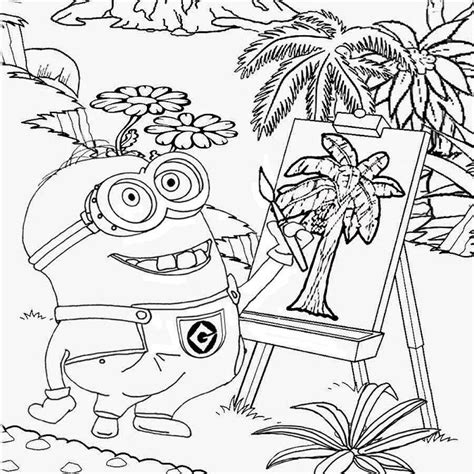 animated coloring pages drawings to print and paint and coloriage et dessin de minion moi moche et m 233 chant