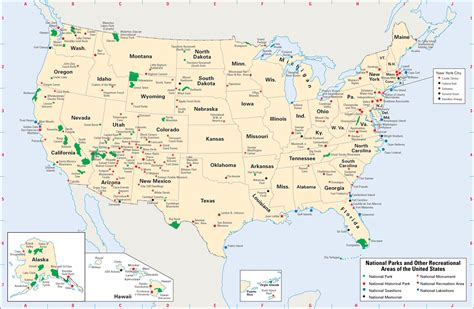 national map map of every national park in the u s ecoclimax