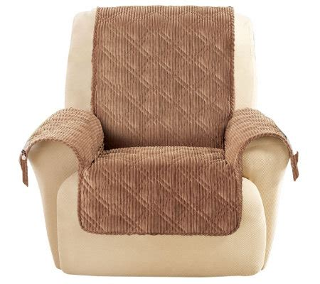 sure fit recliner chair covers sure fit corduroy recliner furniture cover qvc com