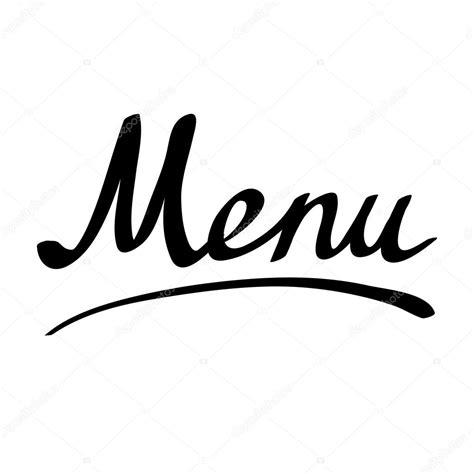 menu design lettering t 237 tulo de men 250 hecho a mano letras vector de stock