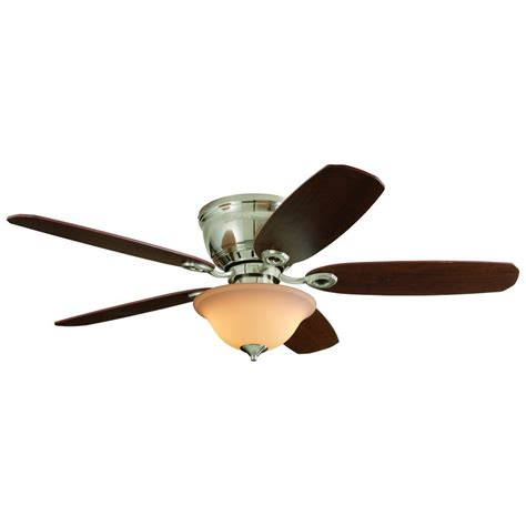 Flush Mount Ceiling Fan With Light Kit And Remote