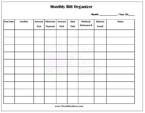 pin  elizabeth casey prudente  organizing bills bill