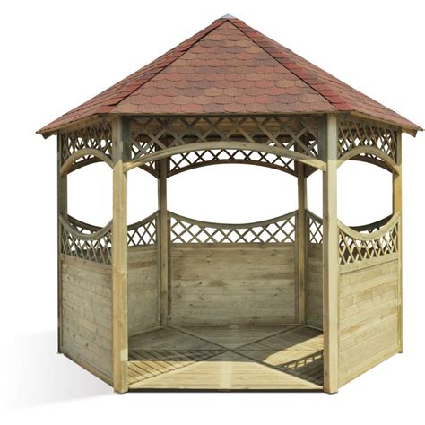 kiosque jardin kiosque de jardin hexagonale en bois diam 232 tre 450 cm