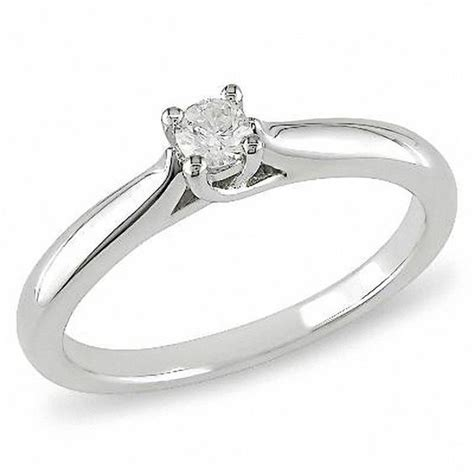 1 6 ct solitaire promise ring in sterling silver