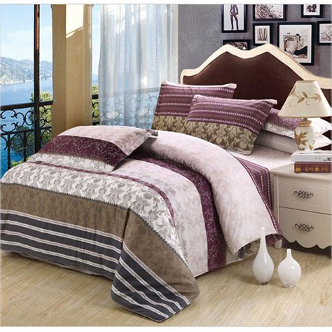 purple and brown comforter set striped purple brown grey duvet cover cool style 100