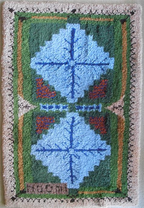 Latch Rug by The Latch Hook Rug Central Coast Handweavers Spinners